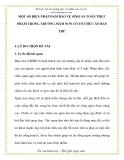MỘT SỐ BIỆN PHÁP ĐẢM BẢO VỆ SINH AN TOÀN THỰC PHẨM TRONG MẦM NON CÓ TỔ CHỨC BÁN TRÚ
