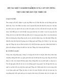 SÁNG KIẾN ĐỀ TÀI: MỘT VÀI KINH NGHIỆM CUNG CẤP VỐN TIẾNG VIỆT CHO TRẺ DÂN TỘC THIỂU SỐ