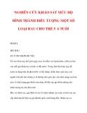 NGHIÊN CỨU KHẢO SÁT MỨC ĐỘ HÌNH THÀNH BIỂU TƯỢNG MỘT SỐ LOẠI RAU CHO TRẺ 5 6 TUỔI