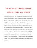 NHỮNG RÀO CẢN TRONG ĐỔI MỚI GIÁO DỤC MẦM NON TP HCM