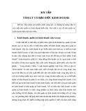 Bài tập tâm lí và đạo đức kinh doanh