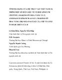 """BÁO CÁO KHOA HỌC: """"TÍNH ĐA DẠNG CỦA HỆ THỰC VẬT VIỆT NAM 16. THÊM MỘT SỐ DẪN LIỆU VỀ TUBOCAPSICUM (WETTST.) MAKINO ỚT HOA VÀNG VÀ T. ANOMALUM (FRANCH. & SAV.) MAKINO ỚT HOA VÀNG (HỌ SOLANACEAE CÀ), CHI VÀ LOÀI ÍT ĐƯỢC BIẾT CỦA H"""""""
