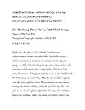 """BÁO CÁO KHOA HỌC: """"NGHIÊN CỨU ĐẶC ĐIỂM SINH HỌC CỦA XẠ KHUẨN KHÁNG PSEUDOMONAS SOLANACEARUM GÂY HÉO CÂY TRỒNG"""""""