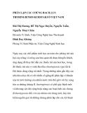 """BÁO CÁO KHOA HỌC: """"PHÂN LẬP CÁC CHỦNG BACILLUS THURINGIENSIS KURSTAKI Ở VIỆT NAM"""""""