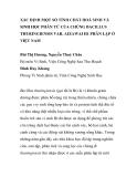 """BÁO CÁO KHOA HỌC: """"XÁC ĐỊNH MỘT SỐ TÍNH CHẤT HOÁ SINH VÀ SINH HỌC PHÂN TỬ CỦA CHỦNG BACILLUS THURINGIENSIS VAR. AIZAWAI H1 PHÂN LẬP Ở VIỆT NAM"""""""