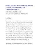 """BÁO CÁO KHOA HỌC: """"NGHIÊN CỨU MỘT SỐ ĐẶC ĐIỂM SINH HỌC CỦA CÁC LOÀI NẤM TRONG PHÂN CHI COREMIOPLEUROTUS """""""