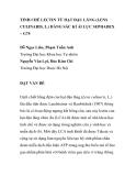 """BÁO CÁO KHOA HỌC: """"TINH CHẾ LECTIN TỪ HẠT ĐẬU LĂNG (LENS CULINARIS, L.) BẰNG SẮC KÍ ÁI LỰC SEPHADEX – G75"""""""