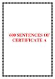 TÀI LIỆU THAM KHẢO 600 SENTENCES OF CERTIFICATE A