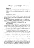 10CÁC RỐI LOẠN HOẠT ĐỘNG CÓ Ý CHÍ