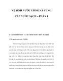VỆ SINH NƯỚC UỐNG VÀ CUNG CẤP NƯỚC SẠCH – PHẦN 1
