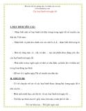 Giáo án chương trình mới: Lớp lá Các loại bánh trái ngày tết
