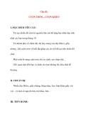 Giáo án chương trình mới: Lớp lá Chủ đề: CUỘN TRÒN....CUỘN KHÉO