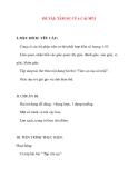 Giáo án chương trình mới: Lớp lá ĐỀ TÀI: TÂM SỰ CỦA CÁI MŨI