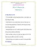 Giáo án chương trình mới: Lớp lá Đề tài: Vẽ đồng lúa chín
