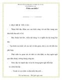 Giáo án chương trình mới: Lớp Chồi Ô kìa con kiến