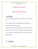 Giáo án chương trình mới: Lớp Chồi Chủ Đề: MỘT SỐ LOẠI RAU  ĐỀ TÀI: THẾ GIỚI CỔ TÍCH