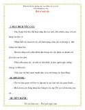 Giáo án chương trình mới: Lớp Chồi Bài vè trái cây
