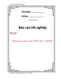 Báo cáo tốt nghiệp: Tivi màu SONY KV- 1485MT