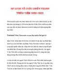 SƠ LƯỢC VỀ CUỘC CHIẾN TRANH TRIỀU TIÊN 1950-1953
