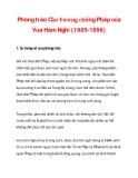 Phong trào Cần Vương chống Pháp của Vua Hàm Nghi (1885-1896)