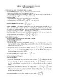 Đề thi tuyển sinh toán năm 2011 khối B