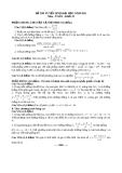 Đề thi tuyển sinh toán năm 2011 khối D