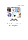 Talk a Lot - Spoken English Course - Book 3