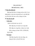 Giáo án tin học 7 - ĐỀ KIỂM TRA 1 TIẾT