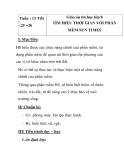 Giáo án tin học lớp 8 - TÌM HIỂU THỜI GIAN VỚI PHẦN MỀM tiết 2