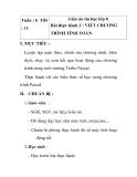 Giáo án tin học lớp 8 -  Bài thực hành 2 : VIẾT CHƯƠNG TRÌNH TÍNH TOÁN tiết 2