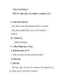 Giáo án tin học 9 - Tiết 39 : làm việc với windows explorer (t1)