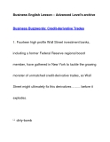 Business English Lesson – Advanced Level's archiveBusiness Buzzwords: Credit-derivative