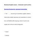 Business English Lesson – Advanced Level's archiveBusiness Buzzwords: Japanese Automobiles