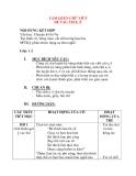 Giáo án chương trình đổi mới LÀM QUEN CHỮ VIẾT ĐỀ TÀI: ÂM E, Ê