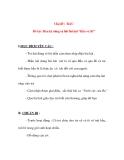 """Giáo án chương trình đổi mớ iChủ đề : RAU Đề tài : Rèn kỹ năng ca hát bài hát """"Bầu và Bí"""""""