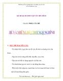 Giáo án chương trình đổi mới Chủ đề: NOEL CỦA BÉ