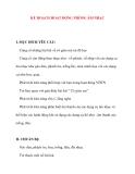 Giáo án chương trình mới: Lớp lá KẾ HOẠCH HOẠT ĐỘNG PHÒNG ÂM NHẠC