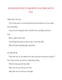 Giáo án chương trình mới: Lớp lá KẾ HOẠCH TỔ CHỨC LỄ HỘI MỪNG NGÀY NHÀ GIÁO VN 20-11