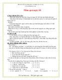 Giáo án chương trình mới: Lớp lá Mâm quả ngày tết