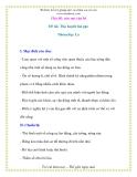 Giáo án chương trình mới: Lớp lá  Đề tài: Thu hoạch lúa gạo