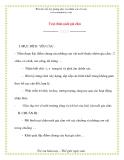 Giáo án chương trình mới: Lớp lá Trại chăn nuôi gia cầm
