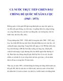 CẢ NƯỚC TRỰC TIẾP CHIẾN ĐẤU CHỐNG ĐẾ QUỐC MĨ XÂM LƯỢC (1965 - 1973_2