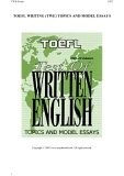 185 Topics and Sample Essays