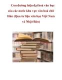 Con đường hiện đại hoá văn học của các nước khu vực văn hoá chữ Hán_2