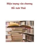 Hiện tượng văn chương Hồ Anh Thái  _1