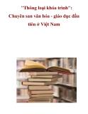 """""""Thông loại khóa trình"""": Chuyên san văn hóa - giáo dục đầu tiên ở Việt Nam"""