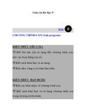Giáo án tin học 9 -  CHƯƠNG TRÌNH CON (Sub program