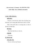 Giáo án tin học 9 - Chương 4 : ĐA PHƯƠNG TIỆN GIỚI THIỆU MULTIMEDIA BUILDERI.