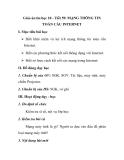 Giáo án tin học 10 - Tiết 59: MẠNG THÔNG TIN TOÀN CẦU INTERNET