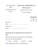 ĐỀ THI TRẮC NGHIỆM HỌC KỲ I MÔN Tin học 10 - đề 2